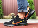 Чоловічі кросівки Nike Zoom (чорно-помаранчеві) 9585, фото 3