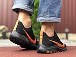 Чоловічі кросівки Nike Zoom (чорно-помаранчеві) 9585, фото 4