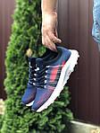 Чоловічі кросівки Nike Zoom (темно-сині з червоним і білим) 9587, фото 2