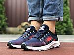Чоловічі кросівки Nike Zoom (темно-сині з червоним і білим) 9587, фото 3