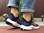 Чоловічі кросівки Nike Zoom (темно-сині з червоним і білим) 9587, фото 4