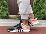 Женские  кроссовки  Adidas Equipment черно синие, оранжевый, фото 4