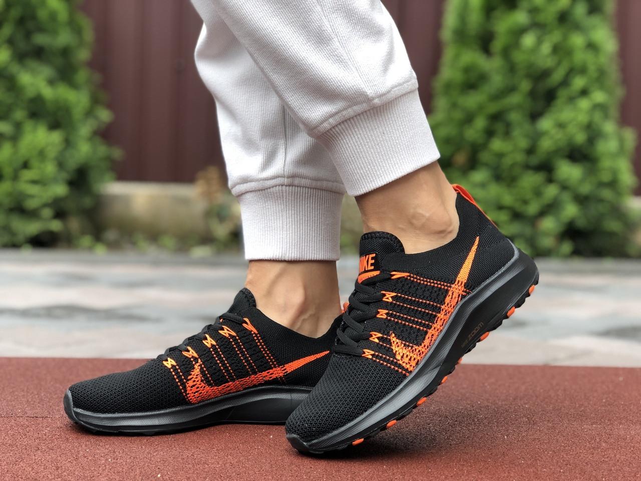 Жіночі кросівки Nike Zoom (чорно-помаранчеві) 9593