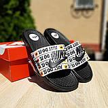 Мужские шлепанцы Nike Just Do IT чёрный знак массажные, фото 4