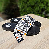 Мужские шлепанцы Nike Just Do IT чёрный знак массажные, фото 5