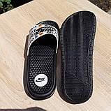 Мужские шлепанцы Nike Just Do IT чёрный знак массажные, фото 7