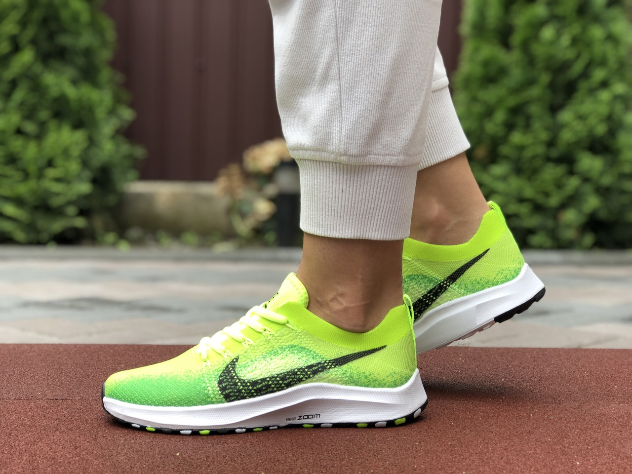 Женские кроссовки Nike Zoom (салатовые) 9595