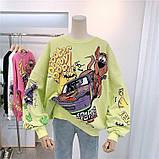 Свитшот оверсайз с принтом мультипликационного героя Скуби-Ду Scooby Doo, фото 9