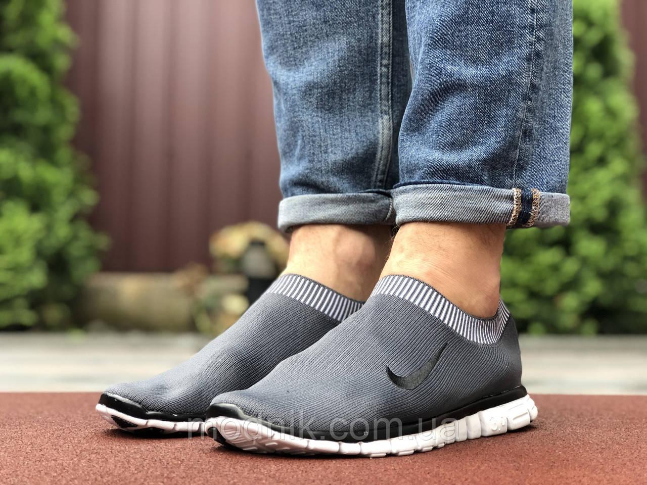 Мужские кроссовки Nike Free Run 3.0 (серые) 9602