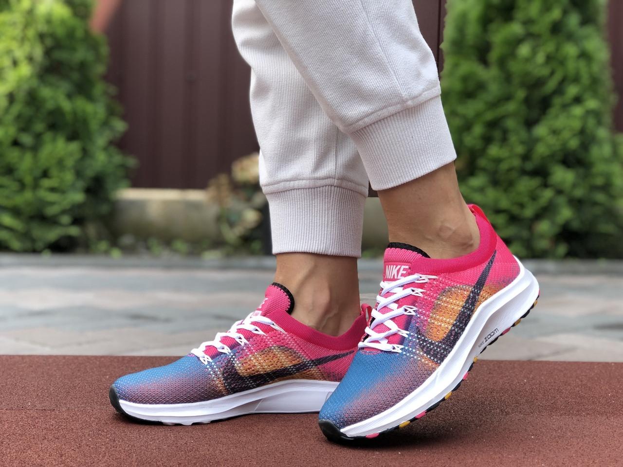 Жіночі кросівки Nike Zoom (синьо-рожеві) 9600