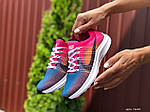 Женские кроссовки Nike Zoom (сине-розовые) 9600, фото 4