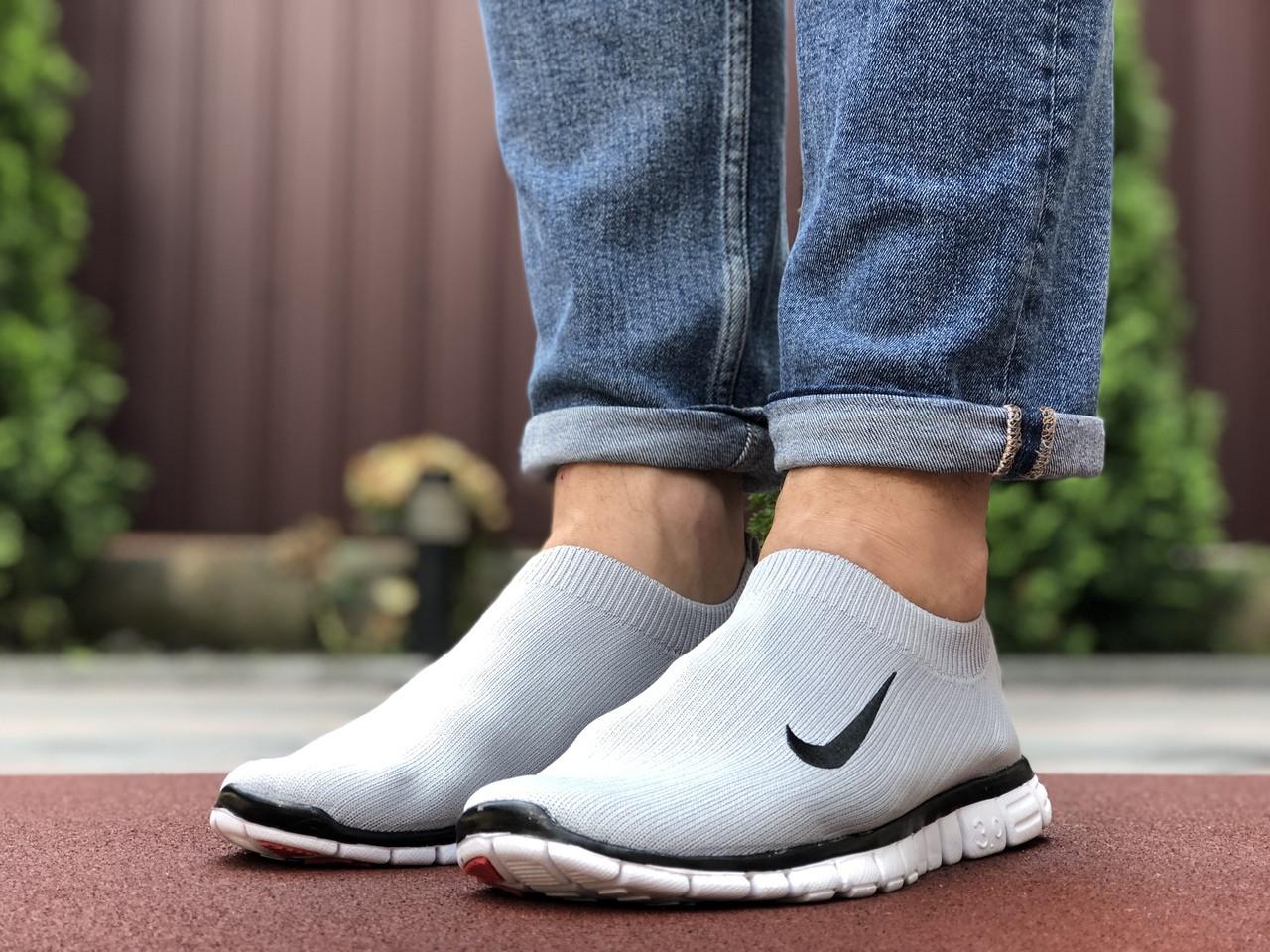 Мужские кроссовки Nike Free Run 3.0 (светло-серые) 9604