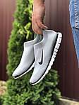 Мужские кроссовки Nike Free Run 3.0 (светло-серые) 9604, фото 4