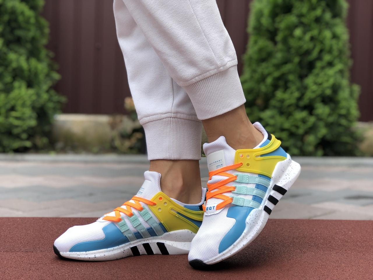 Жіночі кросівки Adidas Equipment (біло-блакитні) 9607