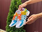 Жіночі кросівки Adidas Equipment (біло-блакитні) 9607, фото 3
