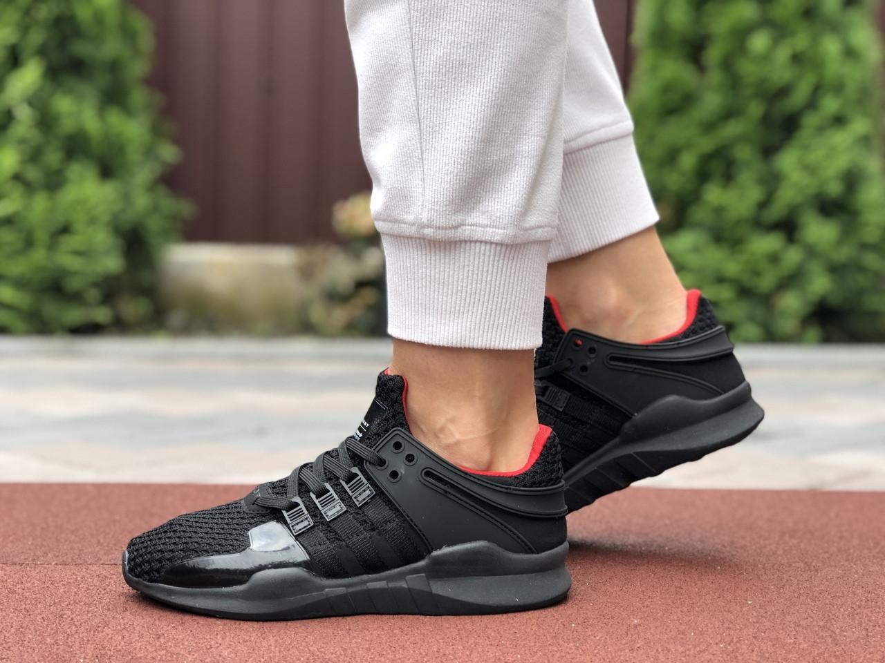Жіночі кросівки Adidas Equipment (чорно-червоні) 9608