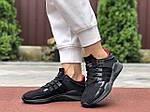 Жіночі кросівки Adidas Equipment (чорно-червоні) 9608, фото 4
