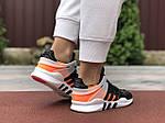 Жіночі кросівки Adidas Equipment (чорно-сірі з помаранчевим) 9609, фото 3