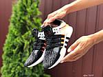 Жіночі кросівки Adidas Equipment (чорно-сірі з помаранчевим) 9609, фото 4