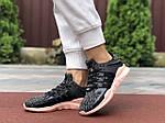 Женские кроссовки Adidas Equipment (серо-черные) 9612, фото 2