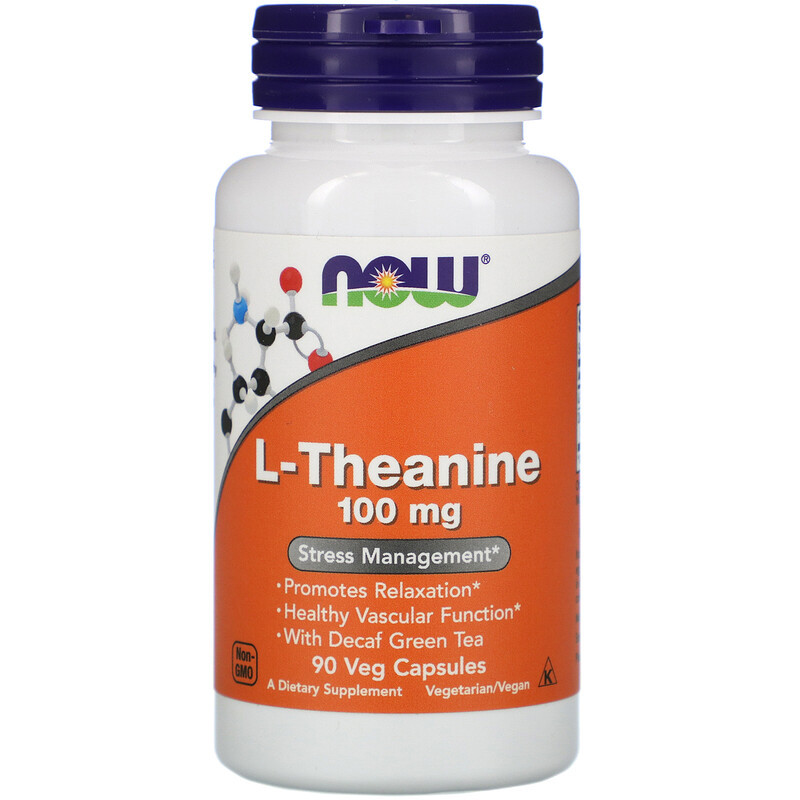 """L-Теанин NOW Foods """"L-Theanine"""" 100 мг (90 капсул)"""