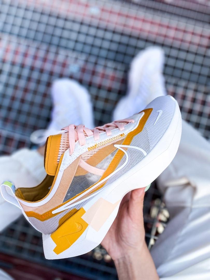 Женские кроссовки Nike Vista Lite (серо-желтые с белым) 2205