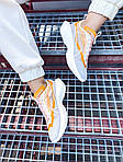 Женские кроссовки Nike Vista Lite (серо-желтые с белым) 2205, фото 4