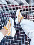 Женские кроссовки Nike Vista Lite (серо-желтые с белым) 2205, фото 6