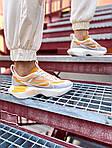 Женские кроссовки Nike Vista Lite (серо-желтые с белым) 2205, фото 10