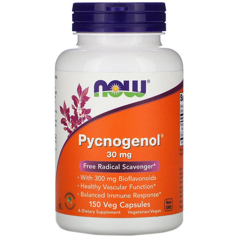 """Пикногенол NOW Foods """"Pycnogenol"""" сильный антиоксидант, 30 мг (150 капсул)"""