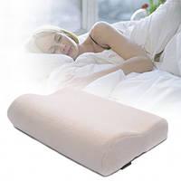 Ортопедическая подушка для сна Memory Pillow с памятью БЕЛАЯ