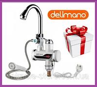 Кран c екраном проточний водонагрівач душ Delimano , Делімано гарячий душ нижнє підключення