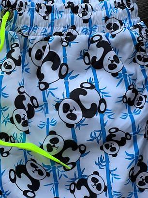 Чоловічі шорти білого кольору з принтом Панда, фото 2