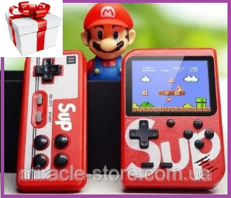 Портативна кишенькова ігрова приставка Sup Game Box 400в1 з джойстиком, ігрова консоль nintendo 8 bit Dendy