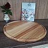 Доска для пиццы большая 50 см. круглая деревянная кухонная разделочная из ясеня, дуба РД-10, фото 4