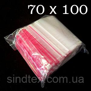 ЗИП пакеты с замком ZIP-LOCK, размер 70х100 мм, уп. 100шт (СИНДТЕКС-0026)