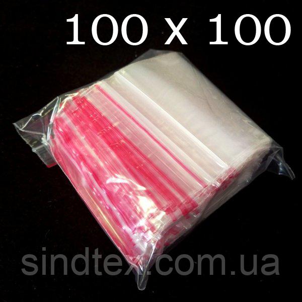 ЗИП пакеты с замком ZIP-LOCK, размер 100х100 мм, уп. 100шт (СИНДТЕКС-0028)