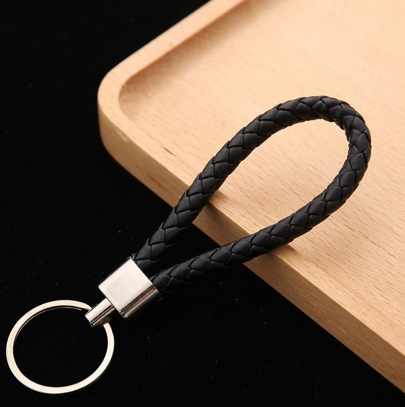 """Брелок для ключей, на сумку для женщин и мужчин """"Плетение"""" цвет черный"""