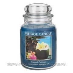 Ароматическая свеча Village Candle Тропические Гавайи (время горения до 170 ч), фото 2