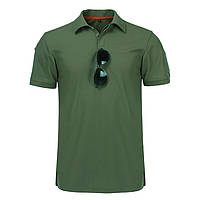 Тактическая футболка поло с коротким рукавом Зеленая (L)