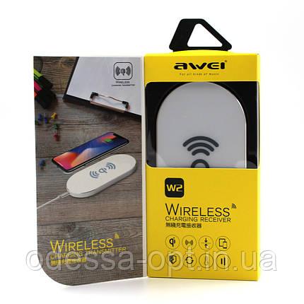 Беспроводное зарядное устройство AWEI W2 + WIRELESS CHARGE, фото 2