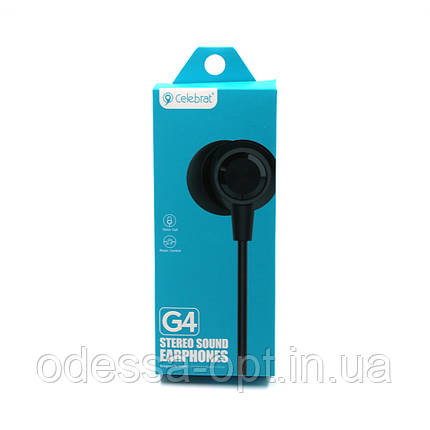 Наушники вакуумные с микрофоном Celebrat G4, фото 2