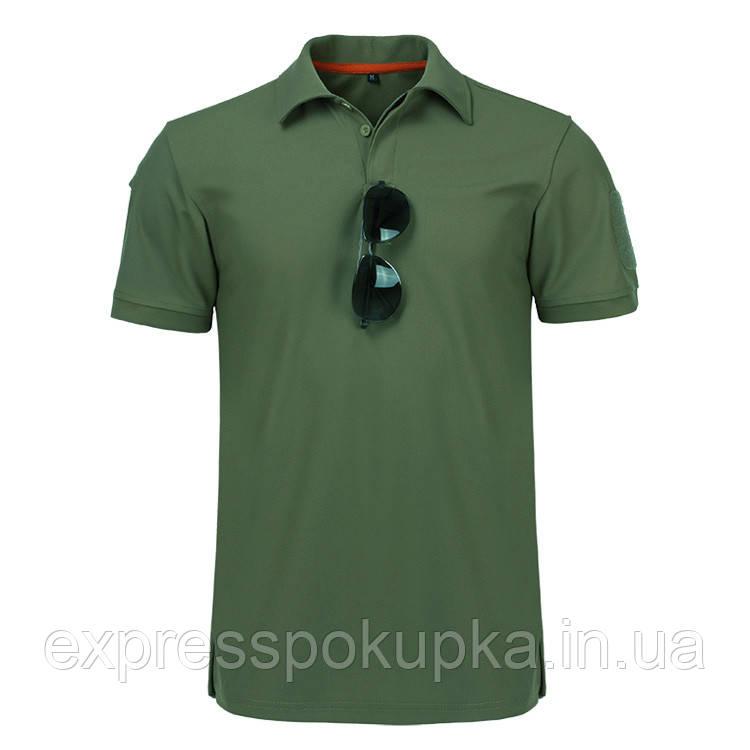 Тактична футболка поло з коротким рукавом Зелена (4XL)
