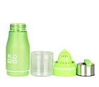 Бутылка для воды и напитков H2O Water Bottle с соковыжималкой 650 мл Зеленый, фото 3