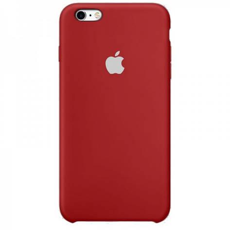 Silicone Case / Силиконовый чехол на IPhone 6 / 6s №33 Dark red, фото 2