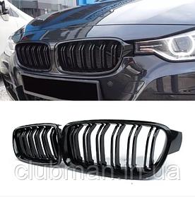Решетка радиатора BMW (БМВ)  F30 F31 F35 M3 глянец ноздри