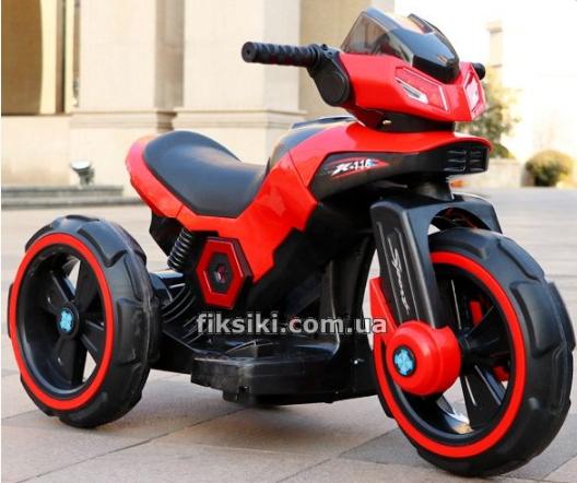 Дитячий електромобіль Мотоцикл з підсвічуванням, M 3927-3 червоний