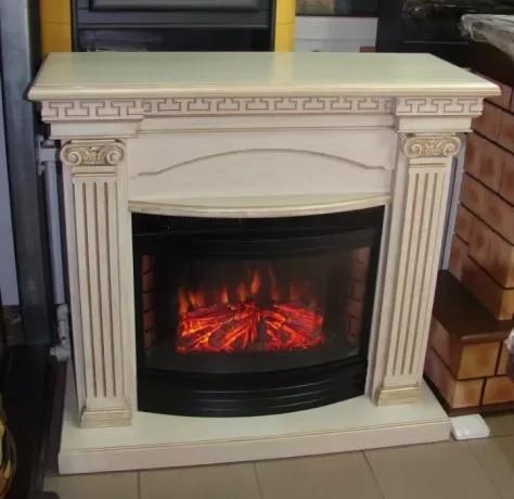 Электрический каминокомплект изготовлен из МДФ Fireplace Прага со звуком и яркости пламени огня