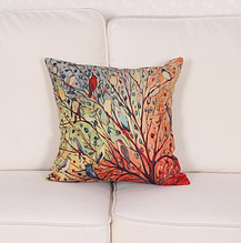 Декоративная наволочка «Весенние птицы» 45×45 см