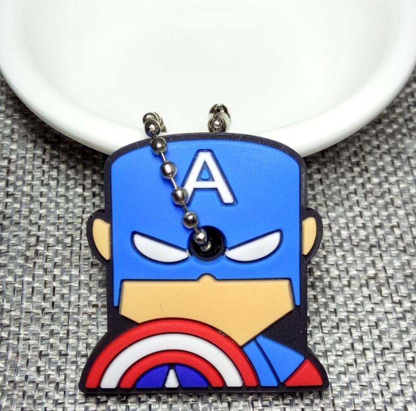 """Брелок, накладка на ключи детская """"Герои"""" Капитан Америка"""